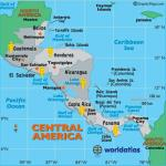 Map of Countries in the Central American Region whom have visited the Key West Paranormal Society