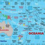 Map of Countries in the Australian / Oceania Region whom have visited the Key West Paranormal Society