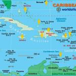 Map of Countries in the Caribbean Region whom have visited the Key West Paranormal Society