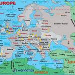 Map of Countries in the European Region whom have visited the Key West Paranormal Society