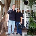 KWPS Managers Wayne Carter and Jacquie Velazquez attending a Home Blessing in Key West, Florida.